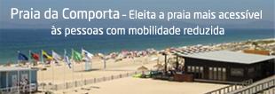 Praia da Comporta é a mais acessível do país